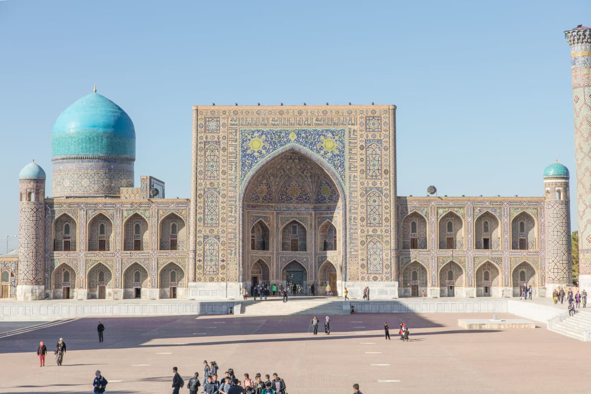 Samarkand Uzbekistan in april